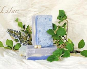 Soap Lilac Goat Milk Soap, Lavender Purple Floral Soap