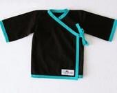 Kimono Top - Black (9 to 12 mo)