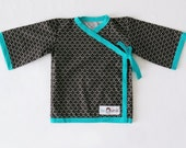 Kimono Top - Black Edo (6 to 9 mo and 12 to 24 mo)