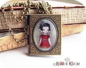 Fairytale Book Locket -My Captain... We've reached the end of the world- B03