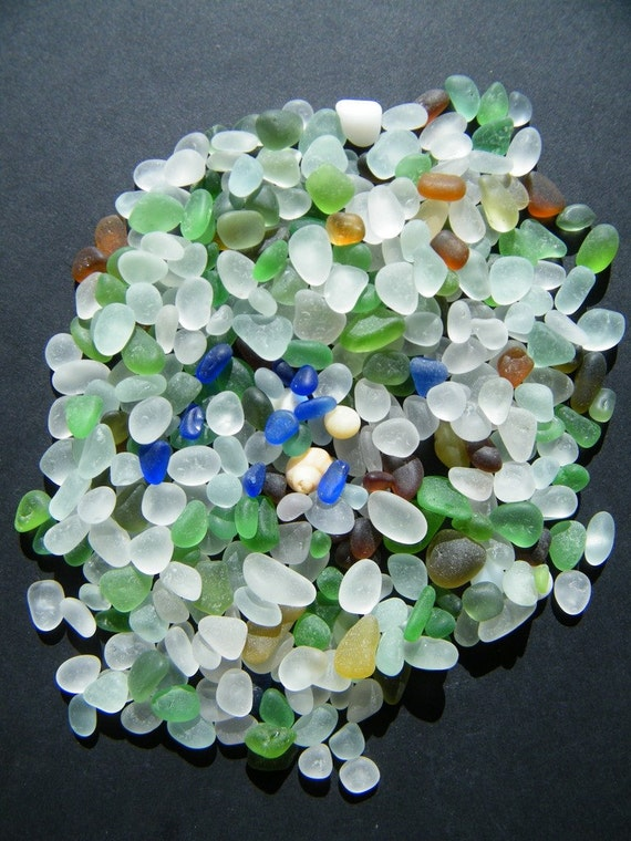 Tiny Itty-Bitty-Teeny All Colors of Seaglass Blues greens white Flawless