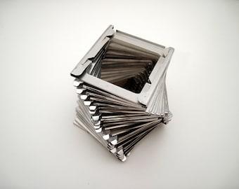 50 Vintage Metal Slide Frames - 35mm Slides - metal frames - small frames - scrapbooking - altered art