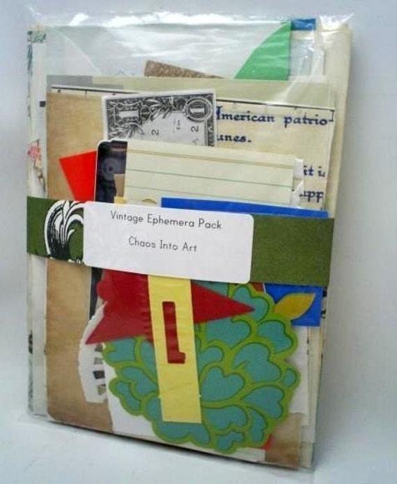Vintage Ephemera Pack - Paper Assortment - Ephemera Grab Bag