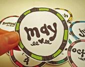 Rainbow Calendar Tags
