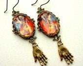 Gypsy Palm Reader Earrings in Fall Colors
