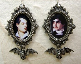 Byron and Polidori - Profiles in Dysfuction - The Other Pair of the Haunted Summer Earrings.