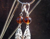 Filigree and rum sparkle earrings