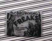 Freaks 1932 horror film poster polymer shrink charm