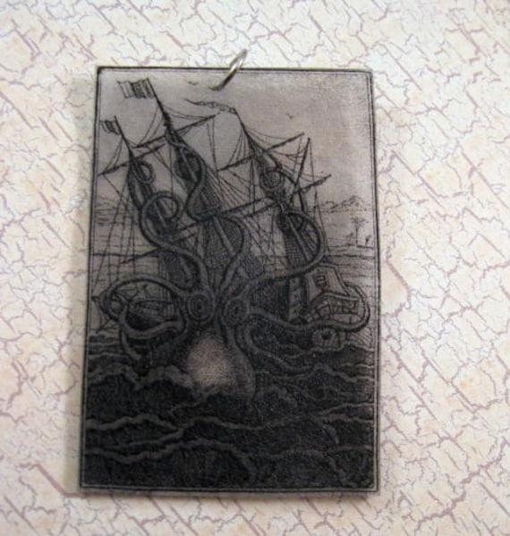 Vintage Kraken Illustration Items similar to Vinta...
