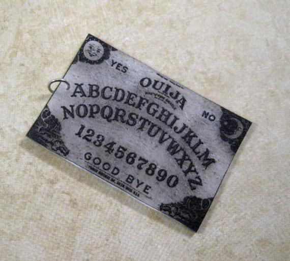 Ouija board shrink polymer charm