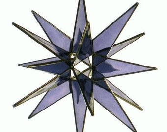 18 Point Purple Stained Glass Moravian/Holiday Star
