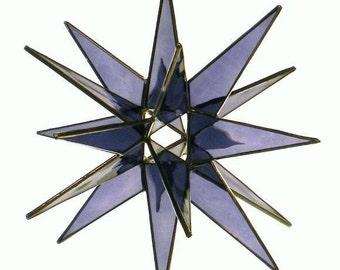 18 Point Purple Stained Glass Moravian Star - Glass Art by Joe - Bethlehem
