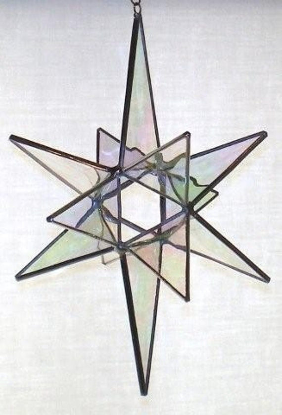 12 Point Stained Glass Moravian Star - Glass Art by Joe - Bethlehem