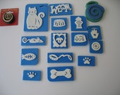 DESTASH - Foam Stamps Cats and Dogs - 16