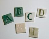 "Mosaic Ceramic Tile Porcelain Letters ""Pepper"" font Made to Order"