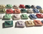 "Mosaic Ceramic Tile Porcelain Letters ""Chunky"" font Made To Order"