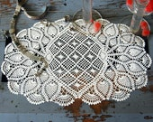 Grandma's Doily Gas Station Price Placemat with FREE SHIPPING