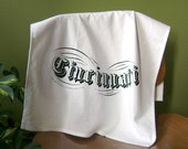 Cincinnati Vintage Typography Tea Towel in Black on White with FREE SHIPPING