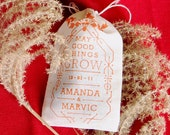 Seed Bomb Wedding Favors - Personalized Custom Color and Choose Your Own Guerrilla Gardening Herbs or Flowers