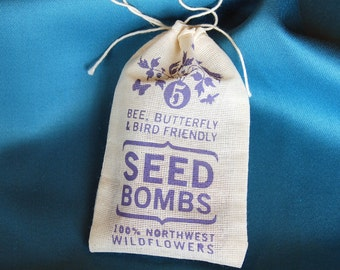 Pacific Northwest Seed Bombs - Bird Bee and Butterfly Friendly DIY Guerilla Gardening Seeds Seed Balls