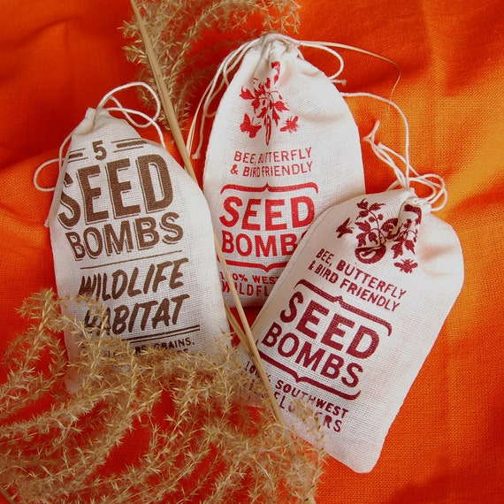 Any 3 Seed Bombs for Guerilla Gardening with Combined S/H Choose from Herb, Edible Flowers, Wildlife Habitat and Regional Varieties