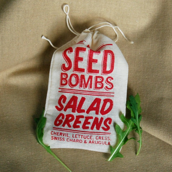 Seed Bombs - Edible Salad Greens for Easy Indoor or Outdoor Gardening