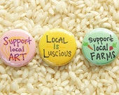Local Love Buttons - Set of 3
