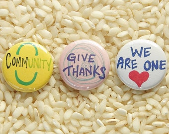 Community Buttons - Set of 3