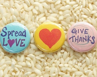 Love Buttons - Set of 3