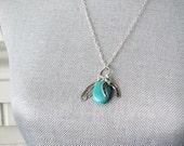 TSULA Feather and Horseshoe Turquoise Necklace