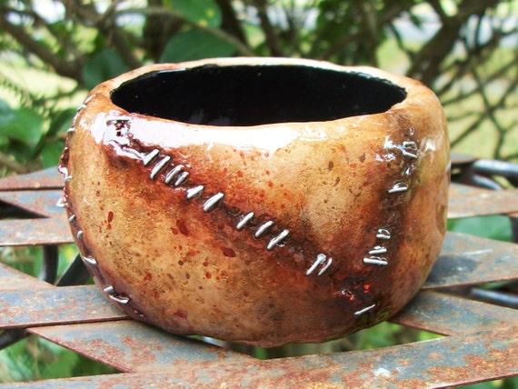 Leather Face Flesh ZombieHead Bracelet