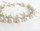 Bracelet - Bridal WHITE Fresh Water Pearl
