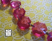 diamond chandelier gem chain - Raspberry Pink - linked drops