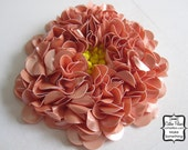 Sequin Flower - Coral Pink - Beaded Applique