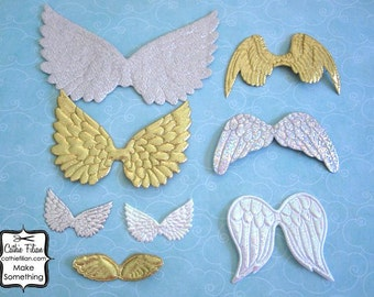 Angel Fairy Wings - Set of 8 Styles - Gold, Silver and Pearl - ALTERED
