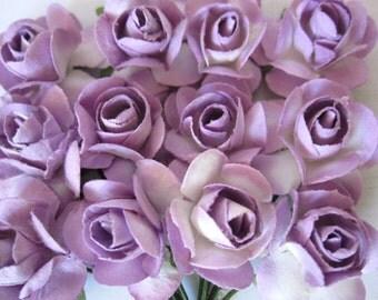 120 Light Purple Paper Flowers - small bouquet - weddings - favors - invitations - paper goods