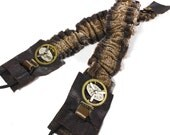 Steampunk Shirt Garters Mens Sleeve Garter Brown Snake Leather Brass Clock Gears Spinning Parts Arm Band - Steampunk Clothing by edmdesigns