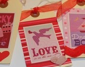 Embellished Love Tags