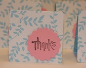 Thank You Mini Card Set- blue and white