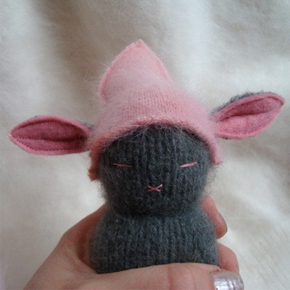 Grey And Pink Peeper Bunny