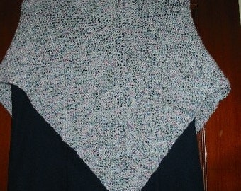 Knitted Multicolor Triangle Shawl