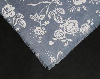 Gray and White Fabric Shawl