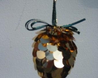 Sequin Pine Cone Ornament