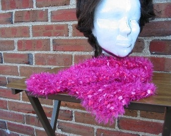 SALE-Soft Pink Splash Scarf