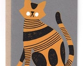 Cat in Grey Card