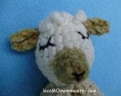 Kawaii Baby-safe Color Grown Organic Cotton Crocheted Toy --Sleepy Lamb FREE SHIPPING to US