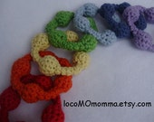 DIY Kit for Eco Jingle Rings--Teether Toy Rattles -- Crochet in Organic Cotton