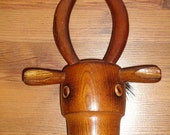 Vintage Figurative OX Wooden Garment BRUSH Made in JAPAN