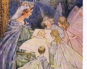 SLEEPING BEAUTY Art Print - Book Page Fairy Tale - Kids Room Decor - 4 PAGES