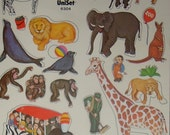 1975 UNISET Picture-making play board ZOO - Reusable - Made in DENMARK